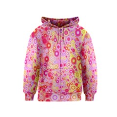Sweet Pink Bubbles Kids  Zipper Hoodie by KirstenStar