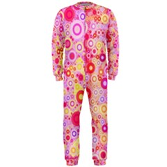 Sweet Pink Bubbles Onepiece Jumpsuit (men)  by KirstenStar