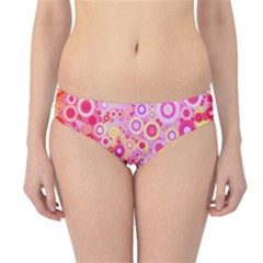 Sweet Pink Bubbles Hipster Bikini Bottoms by KirstenStar