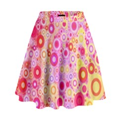 Sweet Pink Bubbles High Waist Skirt by KirstenStar
