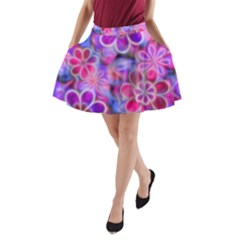 Pretty Floral Painting A Line Pocket Skirt by KirstenStar