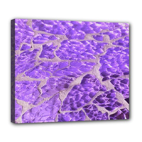 Festive Chic Purple Stone Glitter  Deluxe Canvas 24  X 20   by yoursparklingshop