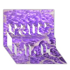 Festive Chic Purple Stone Glitter  You Did It 3d Greeting Card (7x5) by yoursparklingshop