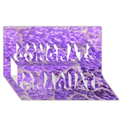 Festive Chic Purple Stone Glitter  Congrats Graduate 3d Greeting Card (8x4)  by yoursparklingshop