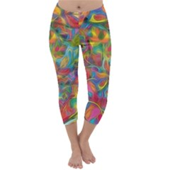Colorful Autumn Capri Winter Leggings  by KirstenStar