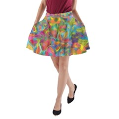 Colorful Autumn A Line Pocket Skirt by KirstenStar