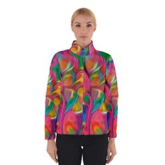 Colorful Floral Abstract Painting Winterwear by KirstenStar