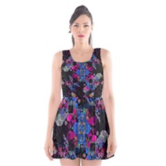 Stylized Geometric Floral Ornate Scoop Neck Skater Dress by dflcprintsclothing