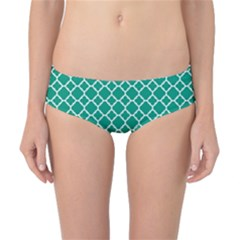 Emerald Green Quatrefoil Pattern Classic Bikini Bottoms by Zandiepants