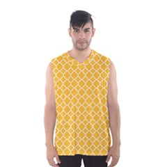 Sunny Yellow Quatrefoil Pattern Men s Basketball Tank Top by Zandiepants
