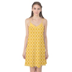 Sunny Yellow Quatrefoil Pattern Camis Nightgown  by Zandiepants