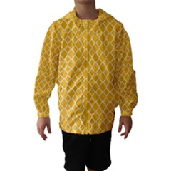 Sunny Yellow Quatrefoil Pattern Hooded Wind Breaker (kids) by Zandiepants