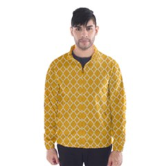 Sunny Yellow Quatrefoil Pattern Wind Breaker (men) by Zandiepants