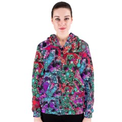 Bubble Chaos Women s Zipper Hoodie by KirstenStar