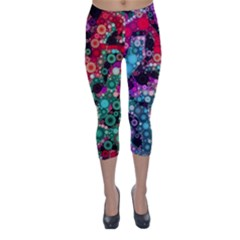 Bubble Chaos Capri Winter Leggings  by KirstenStar