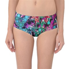 Bubble Chaos Mid Waist Bikini Bottoms by KirstenStar