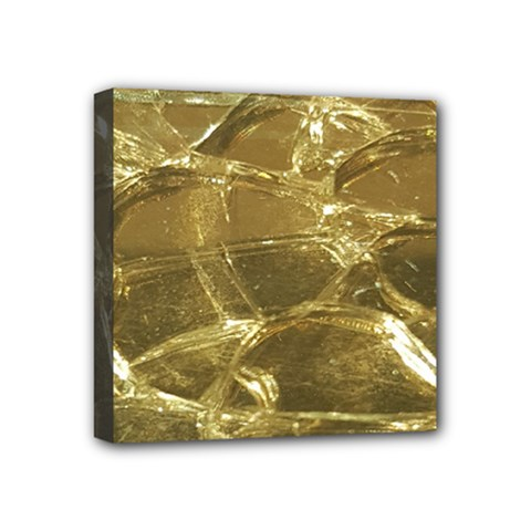 Gold Bar Golden Chic Festive Sparkling Gold  Mini Canvas 4  X 4  by yoursparklingshop