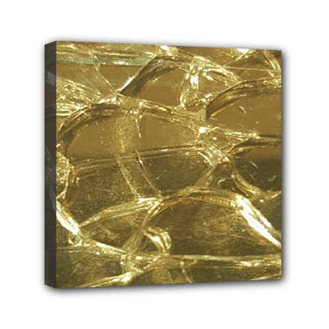 Gold Bar Golden Chic Festive Sparkling Gold  Mini Canvas 6  X 6  by yoursparklingshop