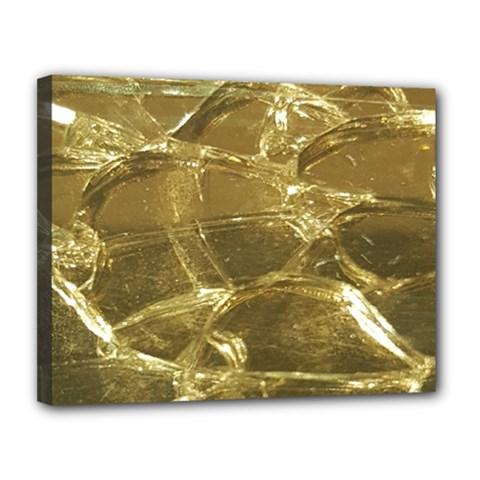 Gold Bar Golden Chic Festive Sparkling Gold  Canvas 14  X 11  by yoursparklingshop