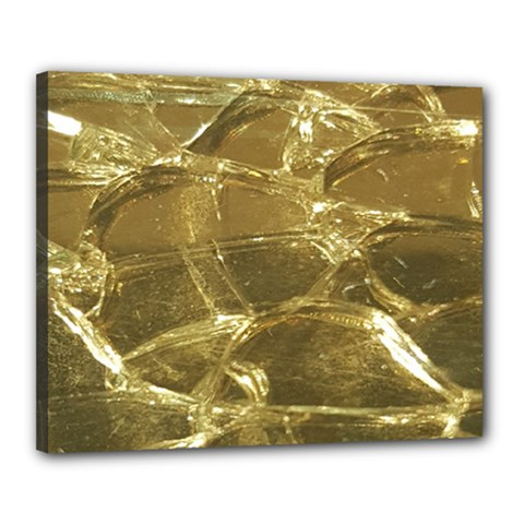 Gold Bar Golden Chic Festive Sparkling Gold  Canvas 20  X 16  by yoursparklingshop