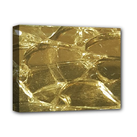 Gold Bar Golden Chic Festive Sparkling Gold  Deluxe Canvas 14  X 11  by yoursparklingshop
