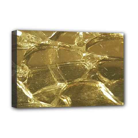 Gold Bar Golden Chic Festive Sparkling Gold  Deluxe Canvas 18  X 12   by yoursparklingshop