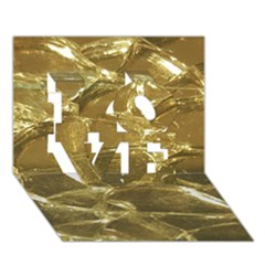 Gold Bar Golden Chic Festive Sparkling Gold  Love 3d Greeting Card (7x5)