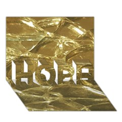 Gold Bar Golden Chic Festive Sparkling Gold  Hope 3d Greeting Card (7x5)  by yoursparklingshop