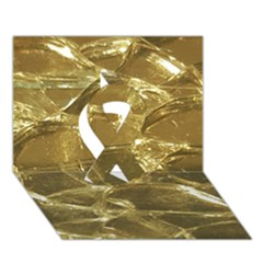 Gold Bar Golden Chic Festive Sparkling Gold  Ribbon 3d Greeting Card (7x5)  by yoursparklingshop