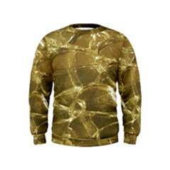 Gold Bar Golden Chic Festive Sparkling Gold  Kids  Sweatshirt by yoursparklingshop