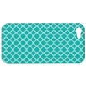 Turquoise quatrefoil pattern Apple iPhone 5 Hardshell Case View1