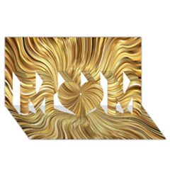 Chic Festive Elegant Gold Stripes Mom 3d Greeting Card (8x4)  by yoursparklingshop