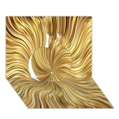 Chic Festive Elegant Gold Stripes Apple 3d Greeting Card (7x5)  by yoursparklingshop