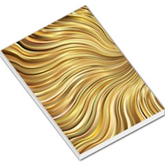 Chic Festive Gold Brown Glitter Stripes Large Memo Pads