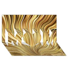 Gold Stripes Festive Flowing Flame  Mom 3d Greeting Card (8x4)  by yoursparklingshop