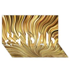 Gold Stripes Festive Flowing Flame  #1 Dad 3d Greeting Card (8x4)  by yoursparklingshop