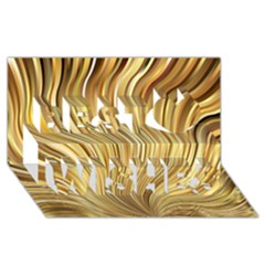Gold Stripes Festive Flowing Flame  Best Wish 3d Greeting Card (8x4)  by yoursparklingshop