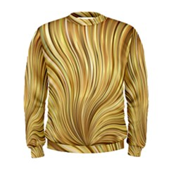 Gold Stripes Festive Flowing Flame  Men s Sweatshirt