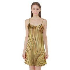 Gold Stripes Festive Flowing Flame  Satin Night Slip by yoursparklingshop