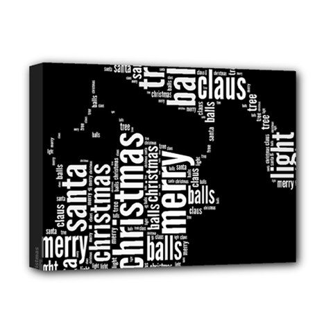 Funny Santa Black And White Typography Deluxe Canvas 16  X 12