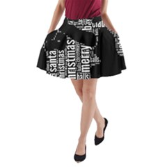 Funny Santa Black And White Typography A Line Pocket Skirt by yoursparklingshop