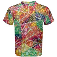 Colorful Chemtrail Bubbles Men s Cotton Tee
