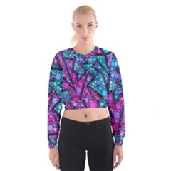 Blues Bubble Love Women s Cropped Sweatshirt
