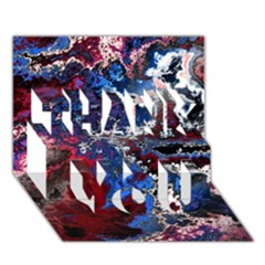 Amazing Fractal 28 Thank You 3d Greeting Card (7x5)