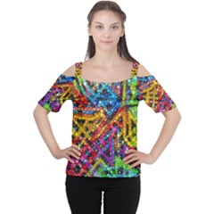 Color Play In Bubbles Women s Cutout Shoulder Tee by KirstenStar