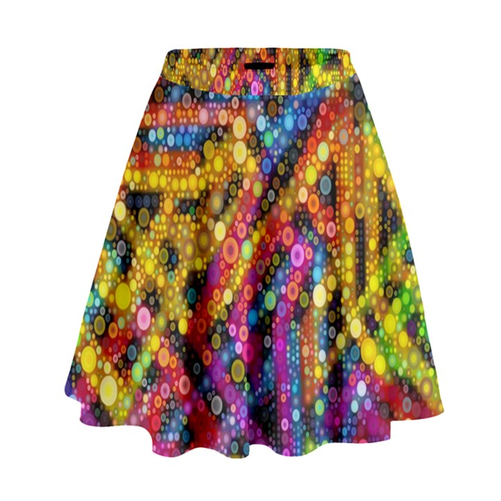 Color Play in Bubbles High Waist Skirt