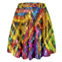Color Play in Bubbles High Waist Skirt View2