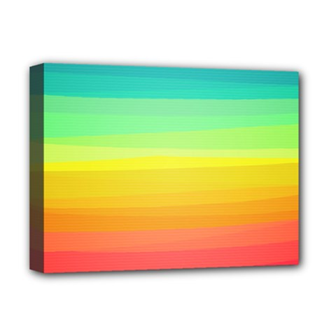 Sweet Colored Stripes Background Deluxe Canvas 16  X 12   by TastefulDesigns