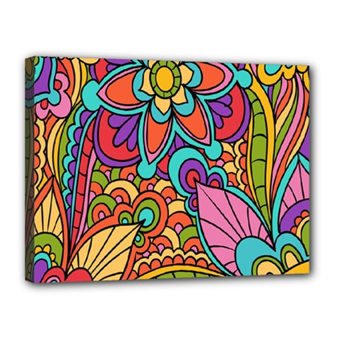 Festive Colorful Ornamental Background Canvas 16  X 12  by TastefulDesigns