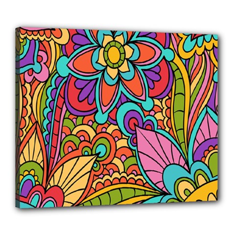 Festive Colorful Ornamental Background Canvas 24  X 20  by TastefulDesigns